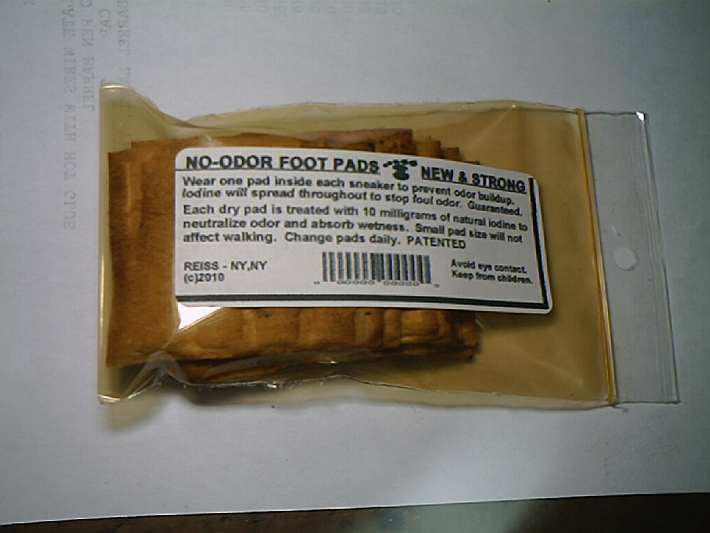 PICTURE OF IODINE foot PADS